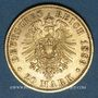 Coins Prusse. Guillaume II (1888-1918). 20 mark 1889A. (PTL 900 /1000. 7,96 g)