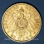 Coins Prusse. Guillaume II (1888-1918). 20 mark 1910A. (PTL 900/1000. 7,96 g)