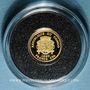 Coins République du Congo. 1 500 francs C.F.A. 2007. Napoléon I. (PTL 999/1000. 0,5 g)