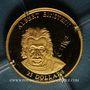 Coins République du Libéria. 25 dollars Einstein 2001. (PTL 999‰. 0,73 g)