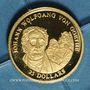 Coins République du Libéria. 25 dollars Goethe 2001. (PTL 999‰. 0,73 g)