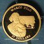 Coins République du Libéria. 25 dollars Marco Polo 2001. (PTL 999‰. 0,73 g)