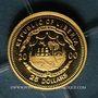 Coins République du Libéria. 25 dollars Martin Luther 2000. (PTL 999‰. 0,73 g)