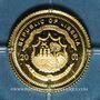Coins République du Libéria. 25 dollars Nostradamus 2001. (PTL 999‰. 0,73 g)