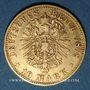 Coins Saxe. Albert (1873-1902). 10 mark 1878 E. (PTL 900‰. 3,98 g)