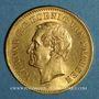 Coins Saxe. Jean I (1854-1873). 20 mark 1873 E. (PTL 900‰. 7,96 g)