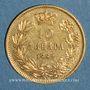 Coins Serbie. Milan Obrenovich IV, roi (1882-1889). 10 dinars 1882. (PTL 900‰. 3,23 g)