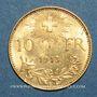 Coins Suisse. 10 francs 1913 B. (PTL 900‰. 3,22 g)