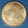 Coins Suisse. 10 francs 1916B. (PTL 900‰. 3,22 g)