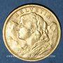 Coins Suisse. Confédération. 20 francs 1907B. 900 /1000. 6,45 gr