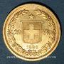 Coins Suisse. Confédération. 20 francs Helvetia 1886B. (PTL 900‰. 6,45 g)
