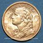 Coins Suisse. Confédération. 20 francs Vreneli 1904B. (PTL 900‰. 6,45 g)