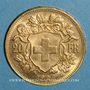 Coins Suisse. Confédération. 20 francs Vreneli 1907 B. (PTL 900‰. 6,45 g)