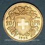 Coins Suisse. Confédération. 20 francs Vreneli 1922 B. (PTL 900‰. 6,45 g)