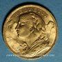 Coins Suisse. Confédération. 20 francs Vreneli 1922B. (PTL 900‰. 6,45 g)