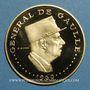 Coins Tchad. République. 10 000 francs 1960/70. Général de Gaulle. (PTL 900‰. 35,28 g)