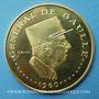 Coins Tchad. République. 10 000 francs 1960/70. Général de Gaulle. (PTL 900‰. 35 g)