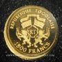 Coins Togo. République. 1500 francs 2007 (PTL 999‰. 0,5 g)