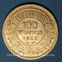 Coins Tunisie. Ahmed III, bey (1348-1361H = 1929-1942). 100 francs 1351H /1932. (PTL 900‰. 6,55 g)