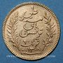 Coins Tunisie. Ali III, bey (1299-1320H = 1882-1902). 20 francs 1892 A. (PTL 900‰. 6,45 g)