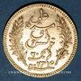 Coins Tunisie. Ali III, bey (1299-1320H = 1882-1902). 20 francs 1897 A. Torche. (PTL 900‰. 6,45 g)