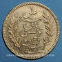 Coins Tunisie. Ali III, bey (1299-1320H = 1882-1902). 20 francs 1899 A. (PTL 900‰. 6,45 g)