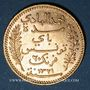 Coins Tunisie. Mohammed El Hadi, bey (1320-1324H = 1902-1906). 20 francs 1321H / 1903A. (PTL 900‰. 6,45 g)