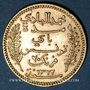 Coins Tunisie. Mohammed El Hadi, bey (1320-1324H = 1902-1906). 20 francs 1322H / 1904A. (PTL 900‰. 6,45 g)
