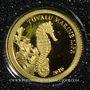 Coins Tuvalu. Elisabeth II (1952 -/). 1 dollar 2010 (PTL 999‰. 0,5 g)