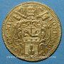 Coins Vatican. Clément XIV (1769-1774). Sequin 1773, an V