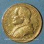 Coins Vatican. Pie IX (1846-1878). 20 lires 1867 an XXII R. Rome. (PTL 900‰. 6,45 g)