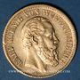 Coins Wurtemberg. Charles I (1864-1891). 10 mark 1880 F. (PTL 900‰. 3,98 g)