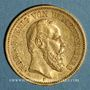 Coins Wurtemberg. Charles I (1864-1891). 20 mark 1876F. (PTL 900‰. 7,96 g)