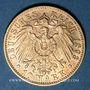 Coins Wurtemberg. Guillaume II (1891-1918). 10 mark 1893 F. (PTL 900‰. 3,98 g)