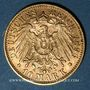 Coins Wurtemberg. Guillaume II (1891-1918). 10 mark 1896 F. (PTL 900‰. 3,98 g)