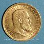 Coins Wurtemberg. Guillaume II (1891-1918). 10 mark 1904F. (PTL 900‰. 3,98 g)