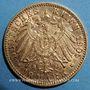 Coins Wurtemberg. Guillaume II (1891-1918). 10 mark 1905 F. (PTL 900‰. 3,98 g)