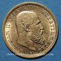 Coins Wurtemberg. Guillaume II (1891-1918). 10 mark 1907F. (PTL 900/1000. 3,98 g)