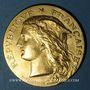 Coins Algérie. Concours Général Agricole. Instruments. 1887. Médaille en or. 33,6 mm. 25,05 g