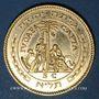 Coins Israel. 10e anniversaire de l'Indépendance. 1958. Médaille or. 916 /1000. 15,08 g