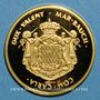 Coins Monaco. Louis II (1922-1949). Médaille or. 999,9 /1000. 11,48 g. 28 mm