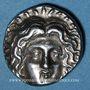 Coins Iles de Carie. Rhodes (vers 304-189 av. J-C). Eukrates, magistrat. Didrachme