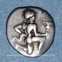 Coins Iles de Thrace. Thasos (vers 411-350 av. J-C). Trihémiobole