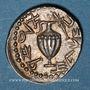 Coins Judée. 2e révolte juive - Révolte de Bar Kokhba (132-135). Denier ou zuz, an 1