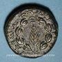 Coins Judée. 2e révolte juive - Révolte de Bar Kokhba (132-135). Moyen bronze an 1 (=132-133). 21,83 mm