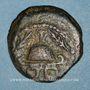 Coins Judée. Hérode le Grand (40-4 av J-C). Moyen bronze (8 prutoh) an 3 (= 40 av. J-C). Sébasté (Samarie)
