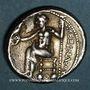 Coins Macédoine. Alexandre III le Grand (336-323 av. J.C.). Tétradrachme. Acé-Ptolémaïs. 330-327 av J-C
