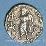 Coins Royaume Indo-scythe. Azès I (vers 57-35 av. J-C). Drachme