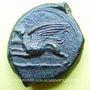 Coins Sicile. Alaisa (vers 365 av. J-C). Bronze. R/: cheval à g.