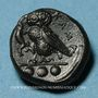 Coins Sicile. Camarina. Tétras. Vers 410-405 av. J-C